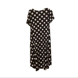 LuLaRoe Dresses - BNWT Black/White Polka Dot High-Low Carly Dress